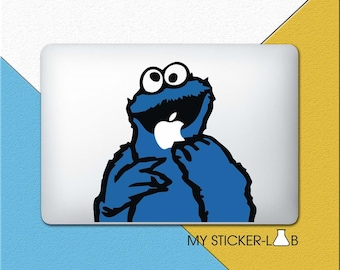 Cookie Monster Sticker Cookie Monster Decal Cookie Monster MacBook Decal Sesame Street Cookie Monster Sesame Street Sticker Laptop bn430
