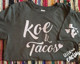 Koe & Tacos | Shirt | Gildan Softstyle | Olive Green |