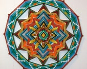 Sunshine to the Heart, a new 24 inch, 12 sided Ojo de Dios