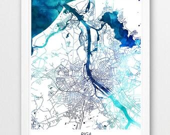 Riga poster Etsy