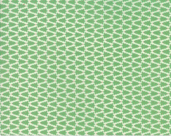 Swell Christmas by Urban Chiks for Moda, #31125-11, Green Trees on Cream, Christmas Trees, Christmas Fabric, Christmas in July, IN STOCK
