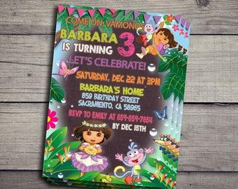 Dora the Explorer Invitation, Dora the Explorer Birthday Party Invite, Dora the Explorer Printable And Digital File, Dora the Explorer