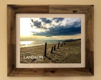 Llanaber Beach View Lustre Print