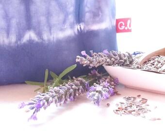 Eye pillows, relaxation, meditation, wellness, lavender, flax seed, wellbeing, shibori, blue