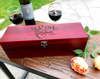 Engraved Wine Box, Personalized Wine Box, Wine box, Wine Tools, Personalized Gift, Anniversary Gift, Wedding Gift, Wine Lover Gift