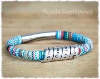 Womens Personalized Bracelet • Best Friend Gift • Boho Bracelet • Personalized Gift For Her • Girlfriend Birthday