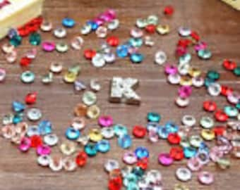 multi color crystals for floating charm lockets