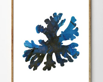 Corals no.2 - Coral Art, Coral Print, Nature Art, Watercolor Coral Painting, Seaweed, Nautical Decor, Beach Decor
