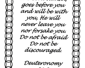 The Lord Himself goes before you... Deuteronomy 31:8 Bible verse coloring page