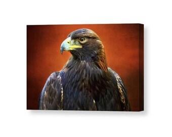Bird Canvas, Golden Eagle, Eagle Wall Art, Brown Wall Art, Canvas Wall Art, Raptor Art, Wildlife Art, Eagle Art, Nature Decor, Bird Decor