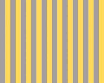 Riley Blake Gray/Yellow Half Inch Stripe