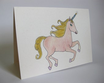 Birthday Card - Handmade and printed from original ink and gouache illustration