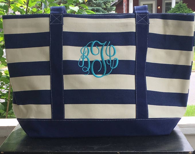 Three Tote Bags w/ Free Monogram, Bride Gift, Maid of Honor Gifts, Monogrammed bags, Christmas Gift. Wedding Party Gifts, Bridesmaid Gift