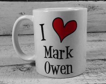 New I Love Mark Owen 11oz Gift Mug
