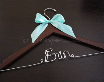 Sale Today Only!! Bridal Hanger with Ribbon / Wedding Hangers BLOW-OUT / Custom Bridal Hangers / Personalized Wedding Hangers