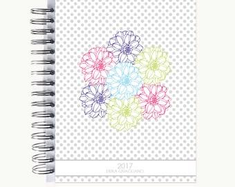 Bullet Journal – Personalized   Spiral   Dot Grid   Notebook   Bouquet