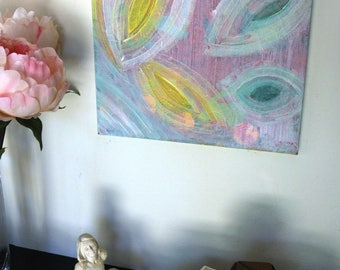 "Summer Wind— Acrylic on canvas, 12""x12"""