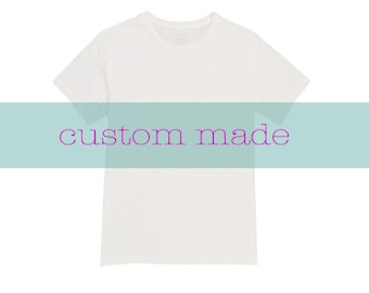 Custom Made/ Hand painted/ Made to order T shirt