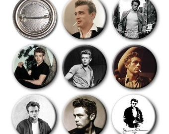 JAMES DEAN - Pinback Buttons (set of 8)