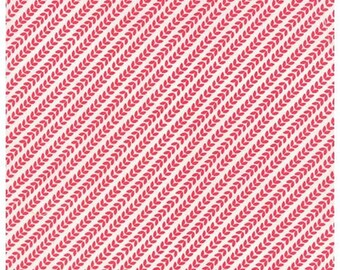 North Woods Garland Snow Cranberry by Kate Spain for Moda Fabrics - #27248-11