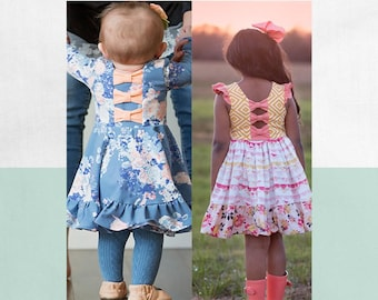 BUNDLE: Girls and Baby Aria's.  PDF Downloadable sewing patterns for baby, toddler and girls NB-24M 2t-12