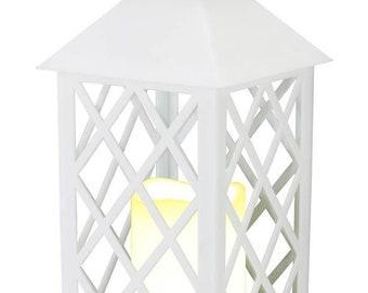 6-Criss Cross LED Candle Lantern