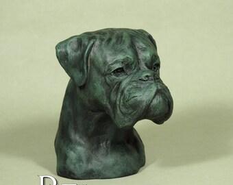 New PERITAS Florence Collection Hand painted Boxer dog fine art sculpture statue Немецкий боксёр ボクサー (犬)