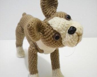 Boston Terrier Crochet Dog
