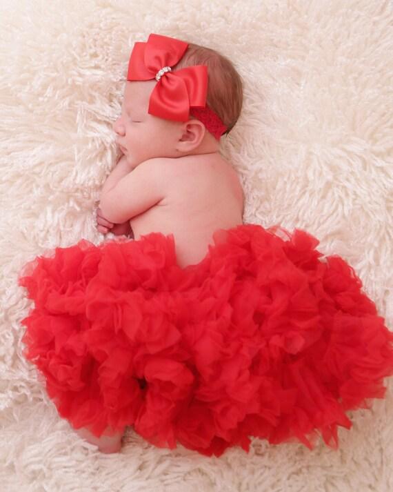 Red Pettiskirt  Red Tutu  Baby Red Tutu  Newborn Tutu  Valentines Tutu  Red  Pettiskirt  Newborn PettiSkirts  Toddler Pettiskirt  Posh Peanut