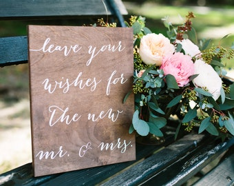 Guestbook Sign, leave well wishes for the new mr and mrs, Guest Book Sign, Wedding Guestbook sign, wood guestbook, Wooden Wedding Signs