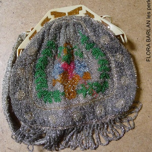 purse beaded french antique