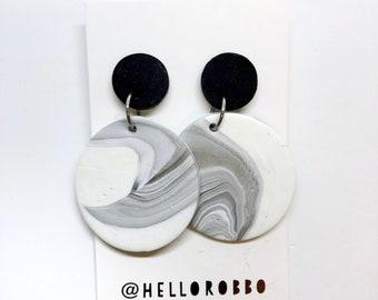 SALE - Polymer clay statement dangle earrings