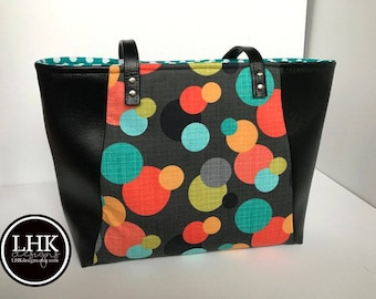 Bright circles tote bag for everyday use