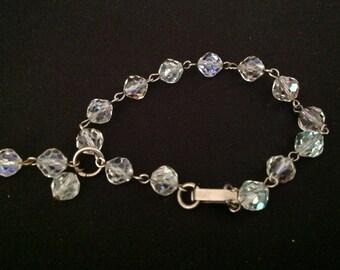Vintage A/ B Crystal Bracelet