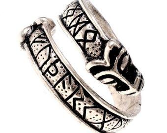 Viking finger ring with runes - [07 Ring Runen/G1 D-8]