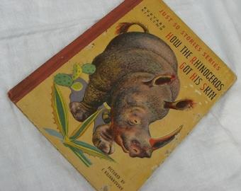 """Book - Just So Stories - """"How the Rhinoceros Got His Skin"""" - Rudyard Kipling - Vintage"""