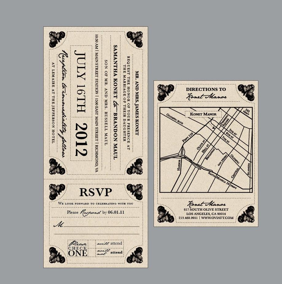 Rustic Wedding Invitations Vintage Antique Victorian Rustic