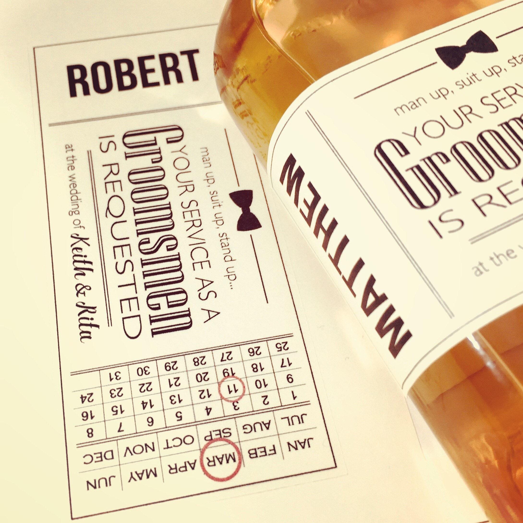 Groomsmen Gifts Best Man Proposal Card Wedding Gift Gift