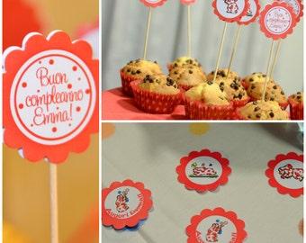Pimpa cupcake toppers