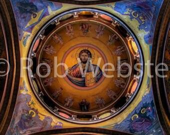 Church of the Holy Sepulchre 10, Jerusalem, 8x10 Fine Art HDR Israel Photo