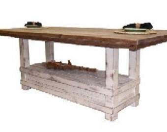 Reclaimed Salvaged Solid Wood Dining Table, Vintage and Rustic,VMW2051