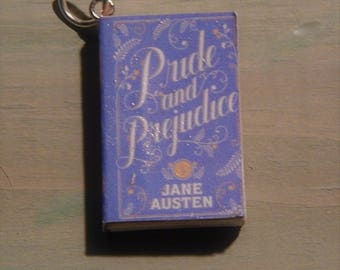Pride & Prejudice Book Necklace, Brooche, or Keychain