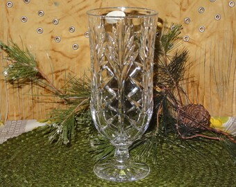 Fifth Avenue Lead Crystal Vase / Clear Lead Crystal Vase / Lead Crystal Pedestal Vase / Fifth Avenue / Crystal Vase / Pedestal Vase