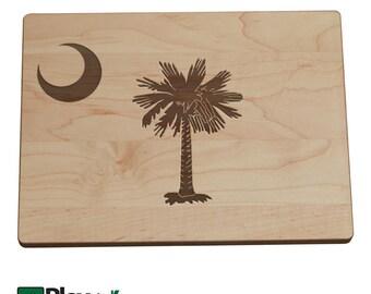 Personalized South Carolina State Flag Cutting Board, SC Flag, SC Wedding,Bamboo,Custom Cutting Board, Wedding Gifts, South Carolina Flag