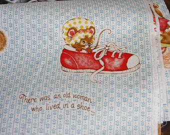 Nursery Rhyme Cat and Fiddle Little Miss Muffet Spider Row Row Boat Shoe baby fabric