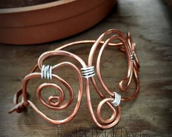 Hinged Cuff Breacelet in Natural Copper   SAMPLE photo