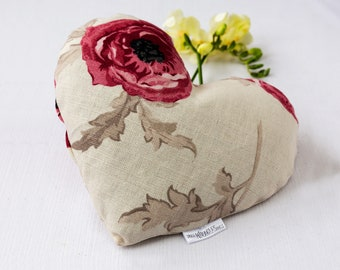 Love pillow, Heating buckwheat pillow, Microwave warmer, Heating pad, Flower pillow, Floral cushion, Heat therapy pad, Hot pack