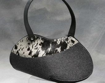 hide felt handbag Debora Crichton