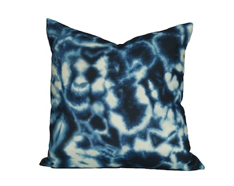 Indigo Puddle designer pillow covers - Made to Order