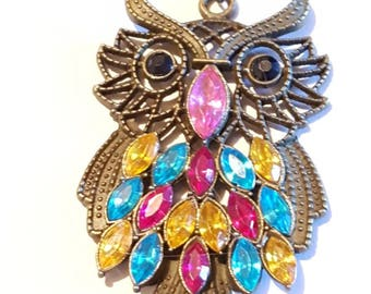 Bronze owl pendant necklace.